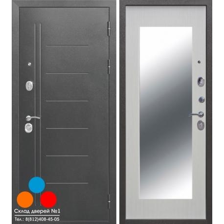 Дверь Троя серебро MAXI c Зеркалом