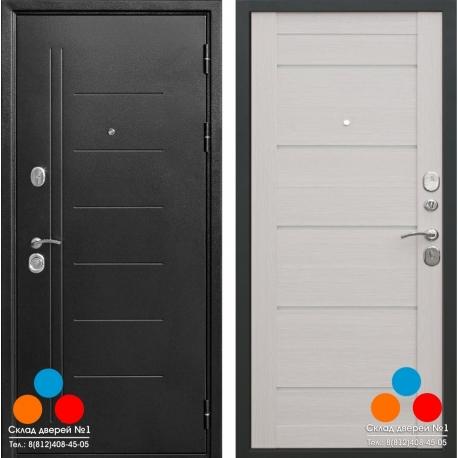 Дверь 10 см Троя серебро Царга