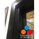 Дверь 11 см Изотерма Букле Зеркало MAXI Бетон снежный